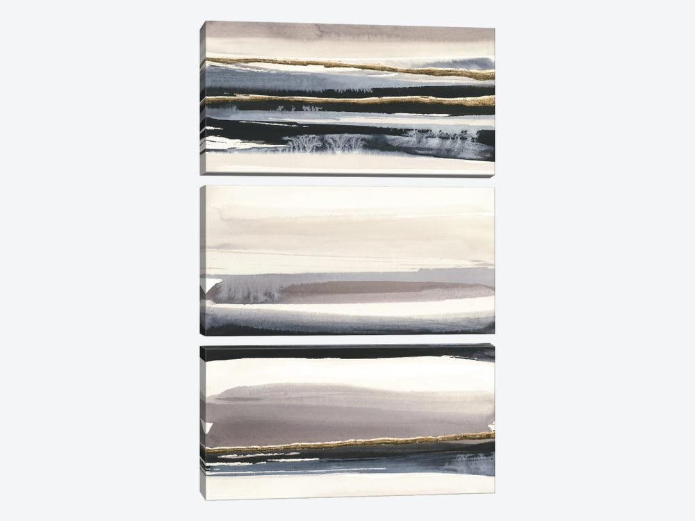 Gilded Grey III by Chris Paschke 3-piece Canvas Artwork