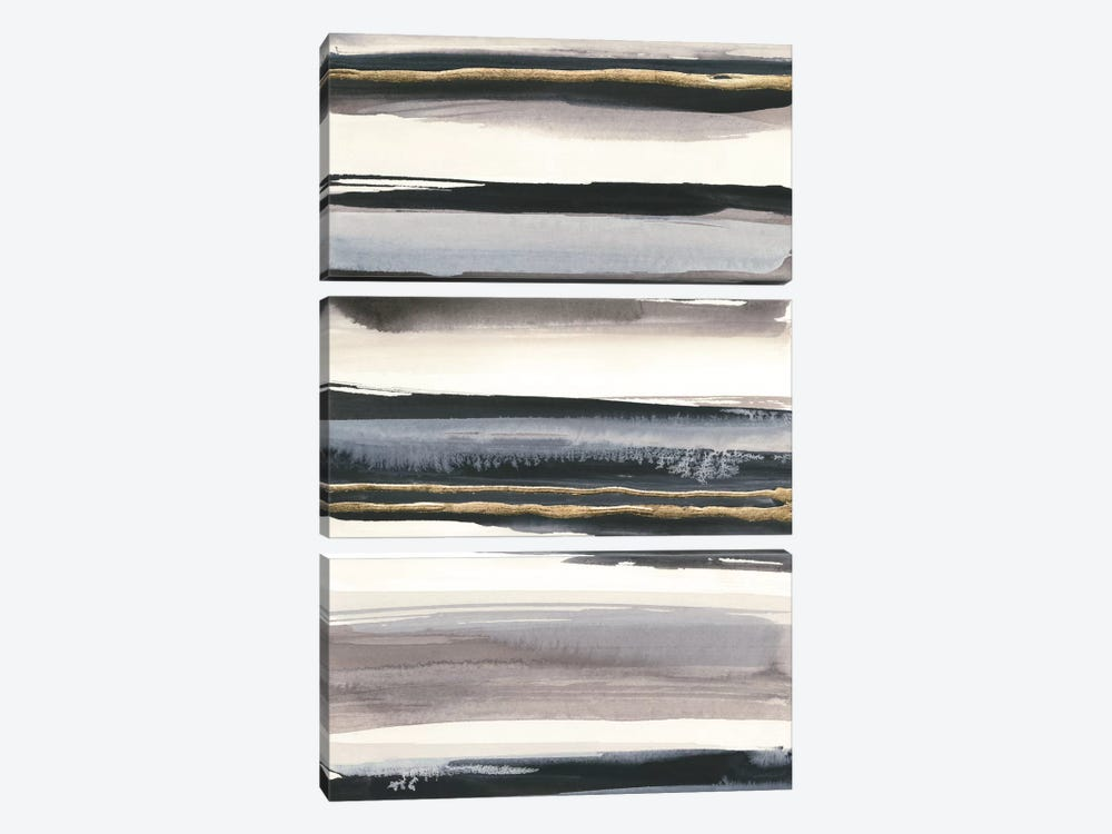 Gilded Grey IV by Chris Paschke 3-piece Canvas Art Print
