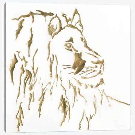 Gilded Lion Canvas Print #WAC5524} by Chris Paschke Canvas Art