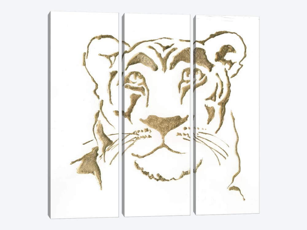 Gilded Lioness by Chris Paschke 3-piece Art Print