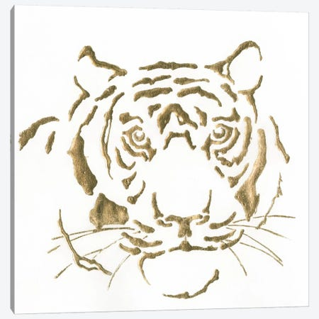Gilded Tiger Canvas Print #WAC5528} by Chris Paschke Canvas Art Print