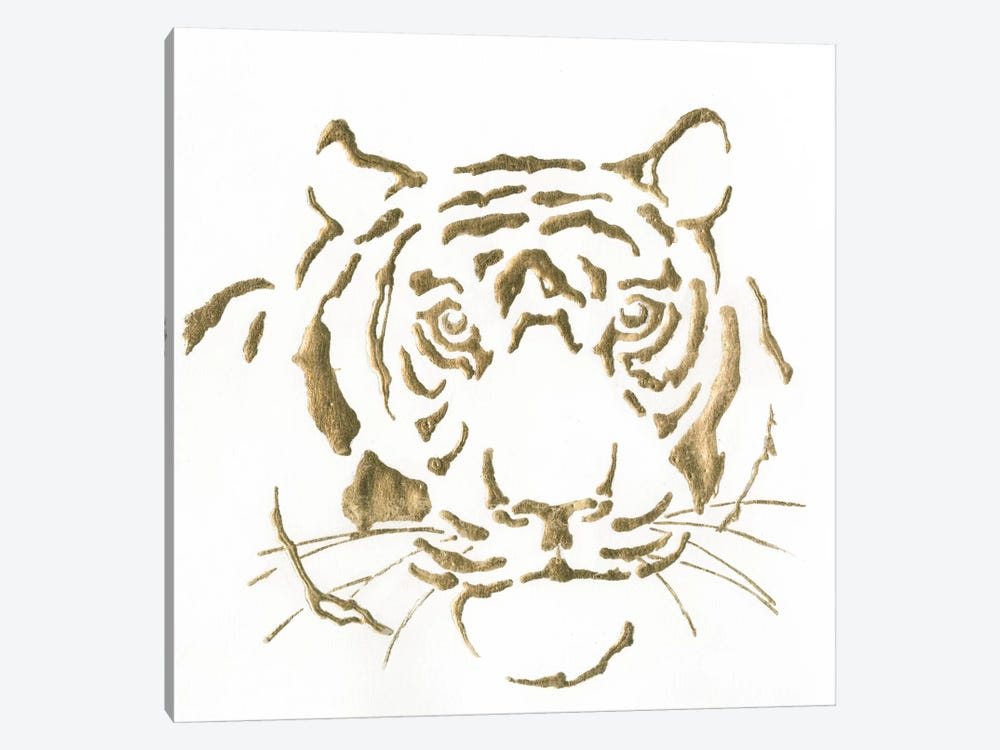 Gilded Tiger by Chris Paschke 1-piece Canvas Wall Art