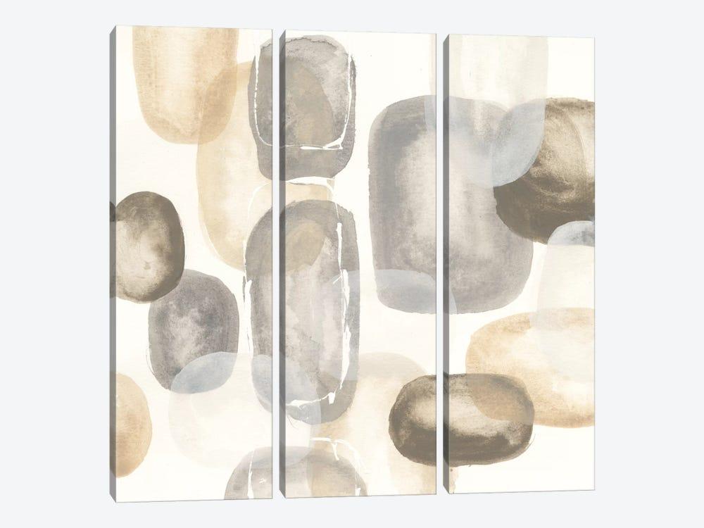 Neutral Stones I by Chris Paschke 3-piece Canvas Art Print