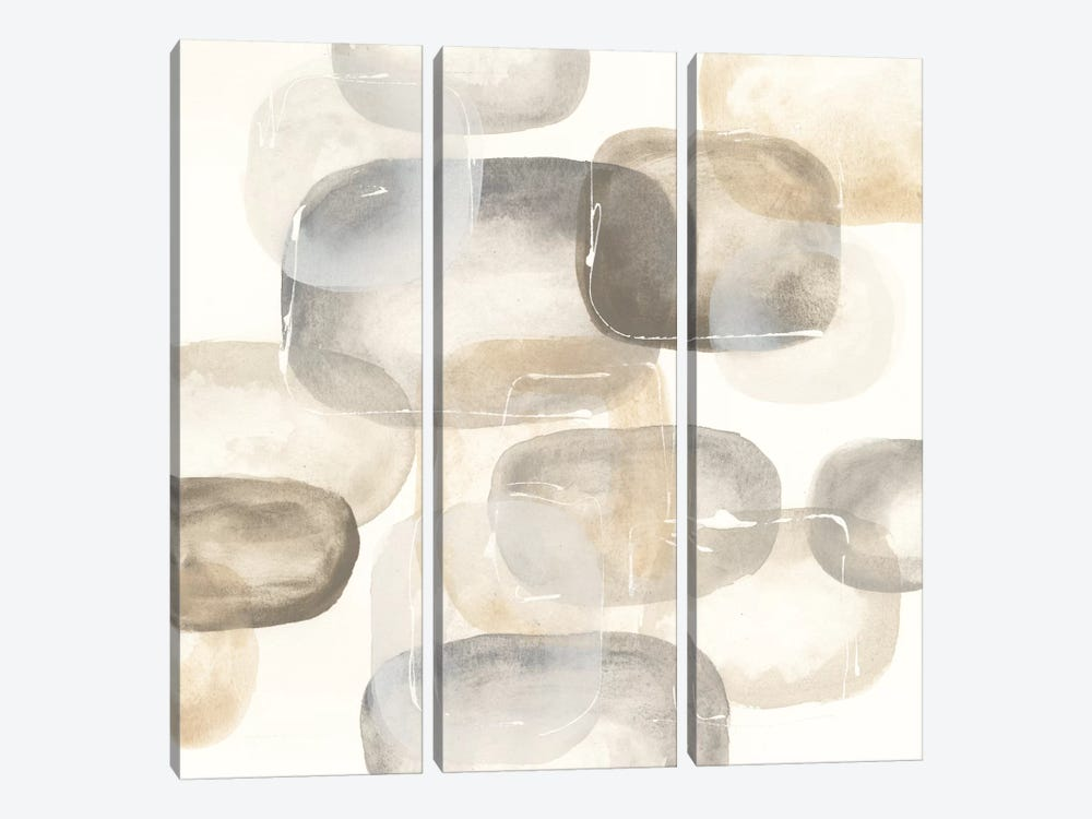 Neutral Stones IV 3-piece Canvas Art