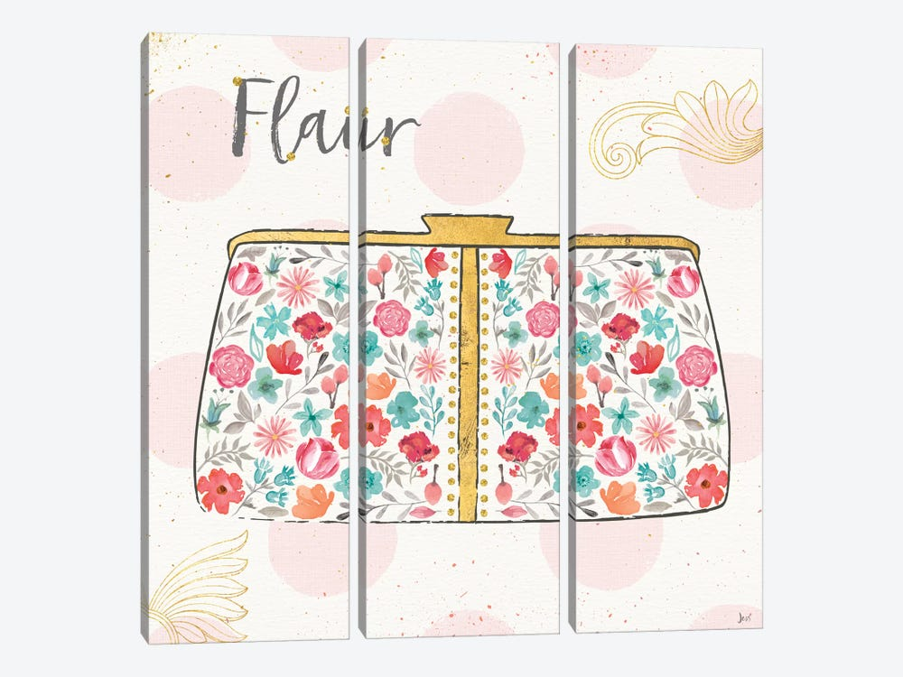 Fashion Blooms I by Jess Aiken 3-piece Canvas Print