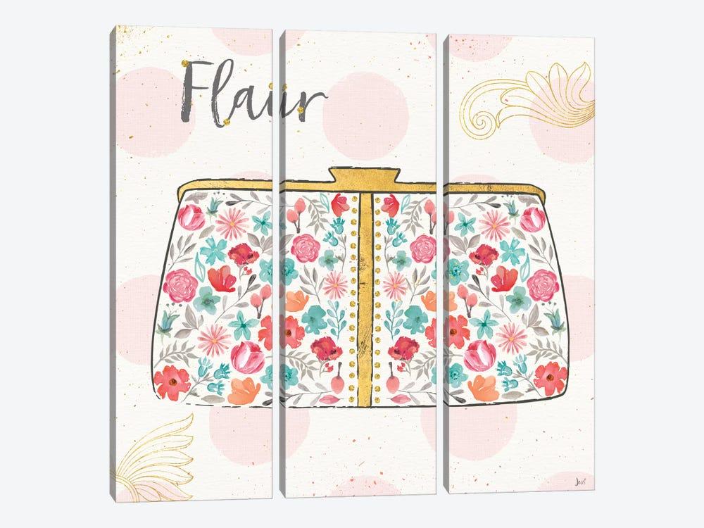 Fashion Blooms I by Jess Aiken 3-piece Canvas Print