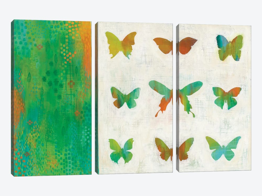 Flight Patterns II by Melissa Averinos 3-piece Canvas Wall Art