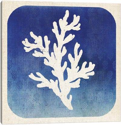 Watermark Coral Canvas Art Print
