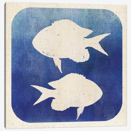Watermark Fish 3-Piece Canvas #WAC5577} by Studio Mousseau Art Print