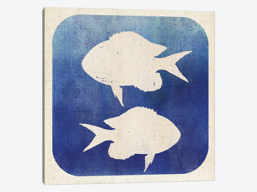 Watermark Fish by Studio Mousseau 1-piece Canvas Artwork