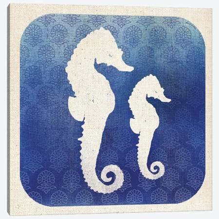 Watermark Seahorse Canvas Print #WAC5578} by Studio Mousseau Canvas Artwork