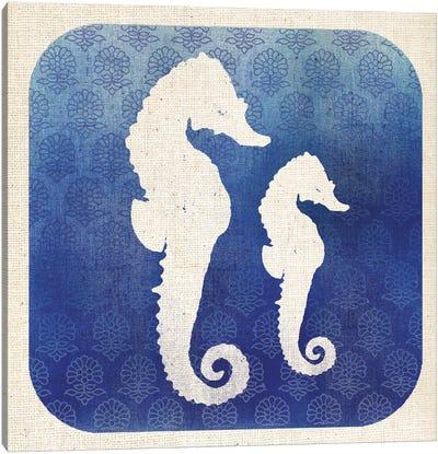 Watermark Seahorse Canvas Art Print