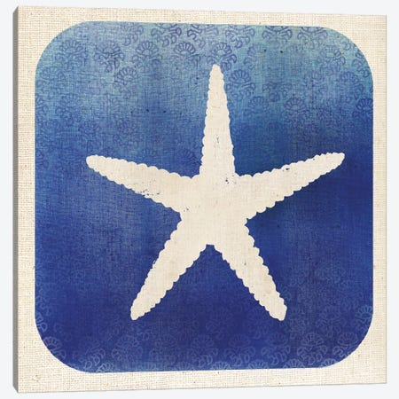 Watermark Starfish Canvas Print #WAC5579} by Studio Mousseau Canvas Artwork