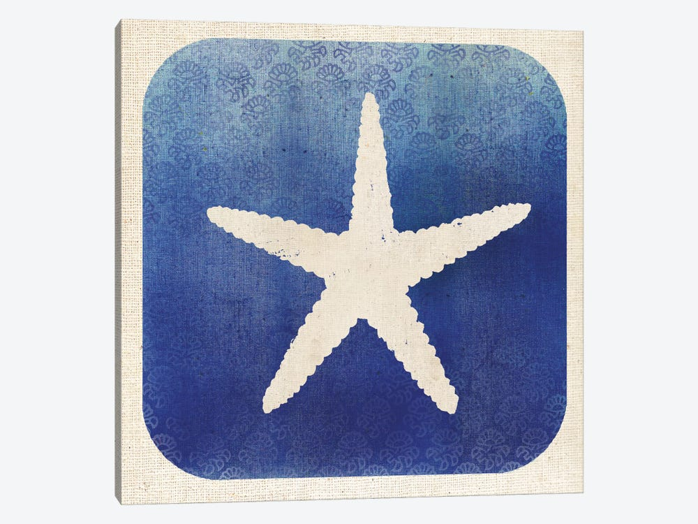 Watermark Starfish by Studio Mousseau 1-piece Canvas Art