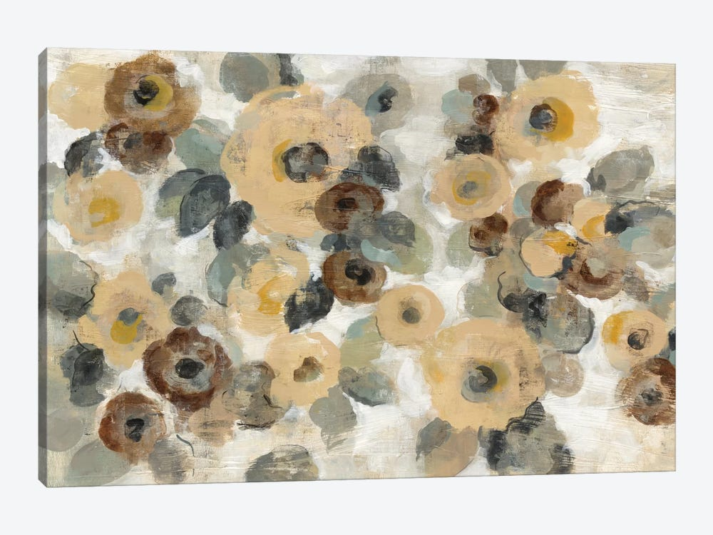 Neutral Floral Beige I by Silvia Vassileva 1-piece Canvas Artwork