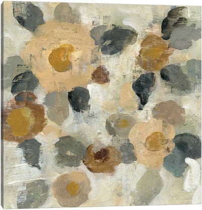 Neutral Floral Beige II Canvas Print #WAC5585