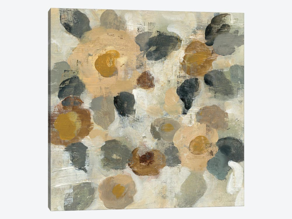Neutral Floral Beige II by Silvia Vassileva 1-piece Canvas Print