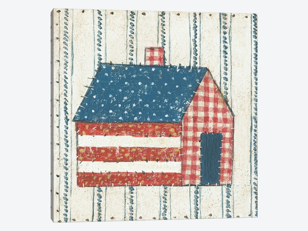 Americana Quilt III 1-piece Canvas Wall Art