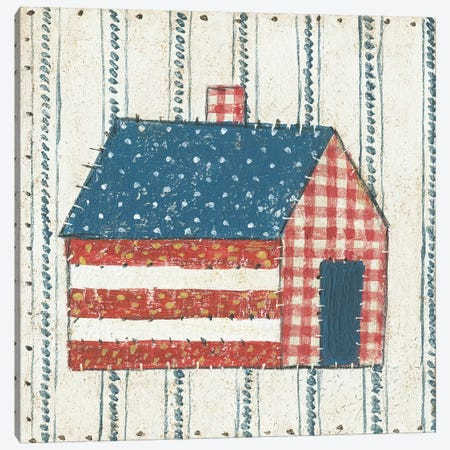Americana Quilt III Canvas Print #WAC5593} by David Carter Brown Canvas Wall Art