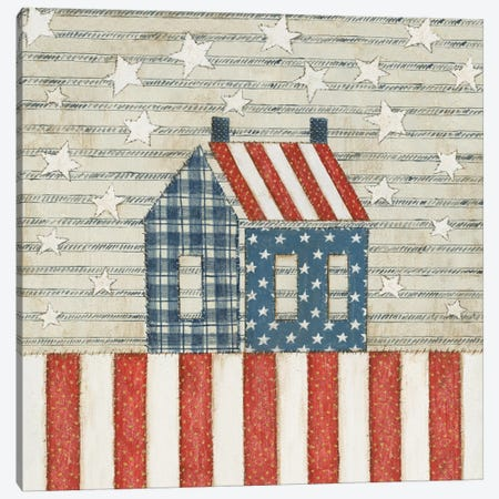Americana Quilt V Canvas Print #WAC5595} by David Carter Brown Canvas Art Print