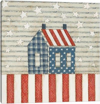 Americana Quilt V Canvas Art Print