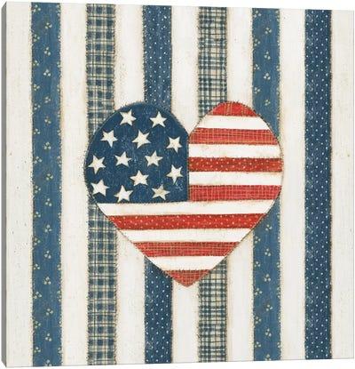 Americana Quilt VI Canvas Art Print