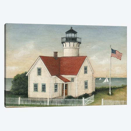 Lighthouse Keeper's House Canvas Print #WAC5597} by David Carter Brown Art Print