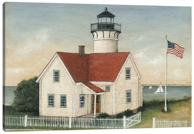 Lighthouse Keeper's House Canvas Art Print