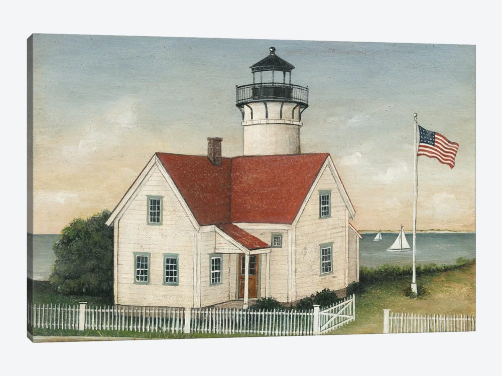 Lighthouse Keeper's House by David Carter Brown 1-piece Canvas Art