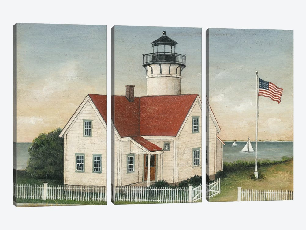 Lighthouse Keeper's House by David Carter Brown 3-piece Canvas Wall Art