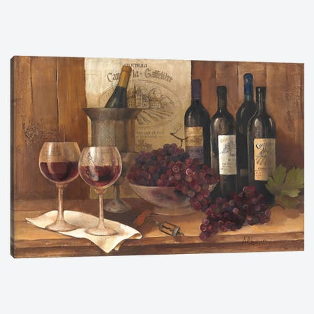 Vintage Wine Canvas Print #WAC55} by Albena Hristova Canvas Art Print
