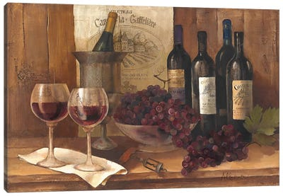 Vintage Wine Canvas Art Print