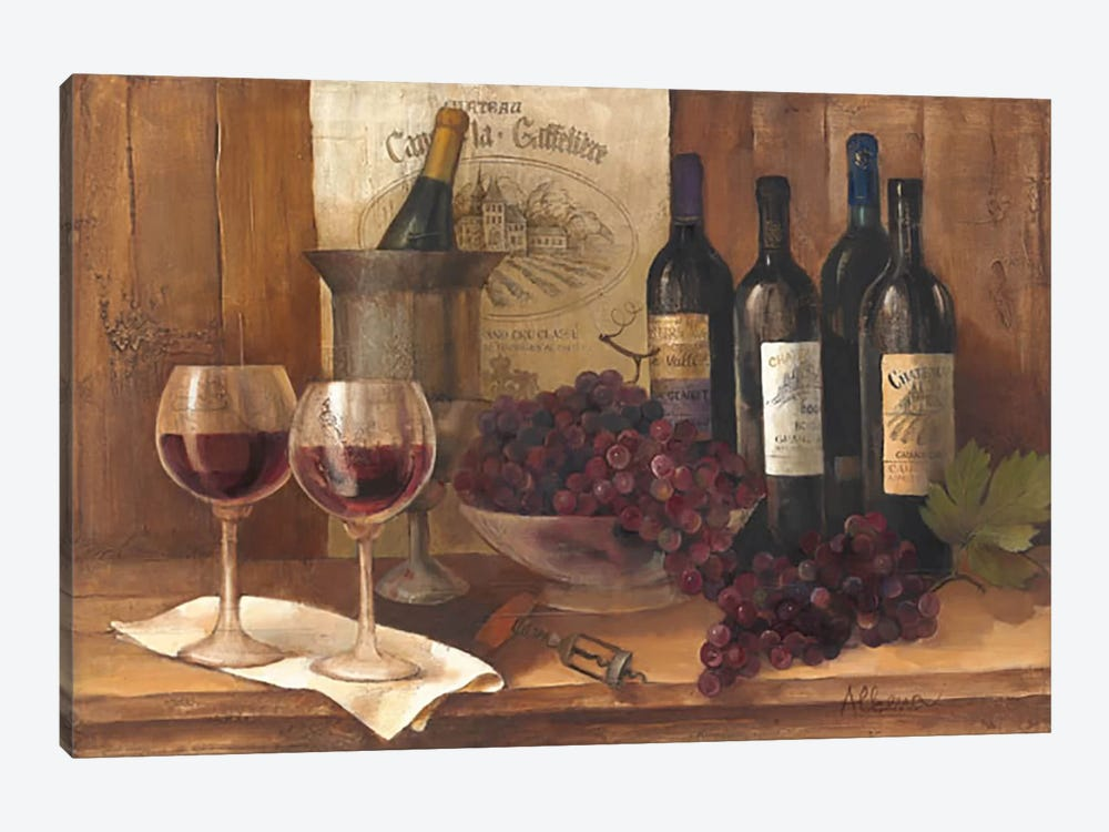 Vintage Wine by Albena Hristova 1-piece Canvas Artwork