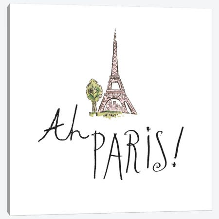 Ah Paris I Canvas Print #WAC5600} by Pela Studio Canvas Artwork