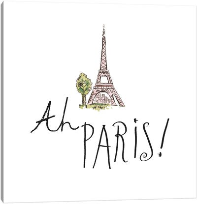 Ah Paris I Canvas Art Print