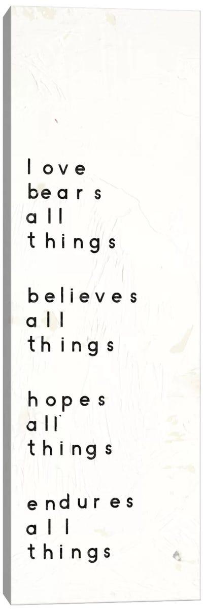Words Of Encouragement I Canvas Art Print