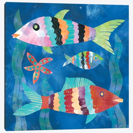 Boho Reef Fish I Canvas Print #WAC5612} by Wild Apple Portfolio Art Print