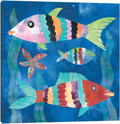 Boho Reef Fish I Canvas Art Print