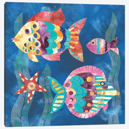 Boho Reef Fish II Canvas Print #WAC5613} by Wild Apple Portfolio Art Print