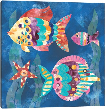 Boho Reef Fish II Canvas Art Print