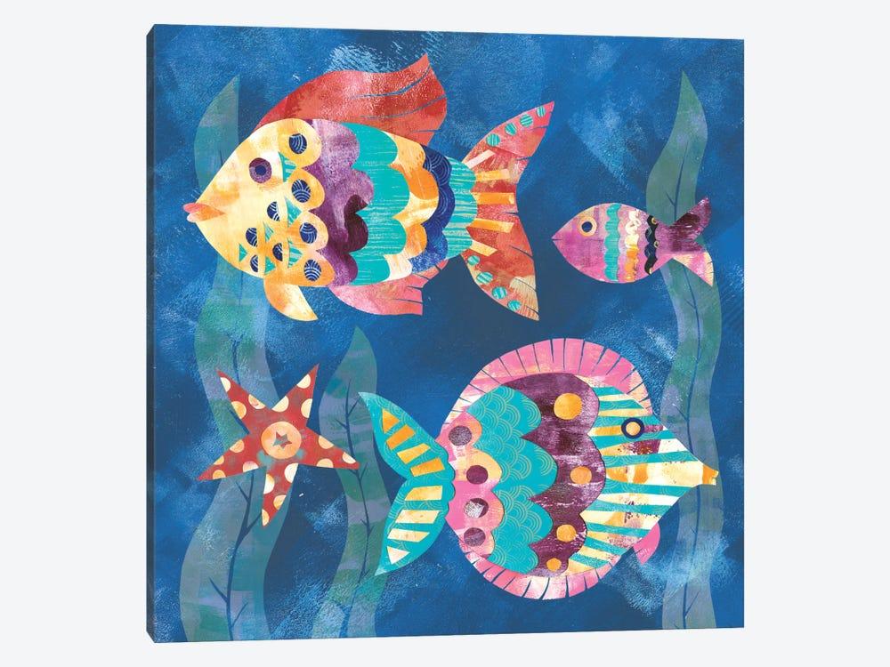 Boho Reef Fish II by Wild Apple Portfolio 1-piece Canvas Art