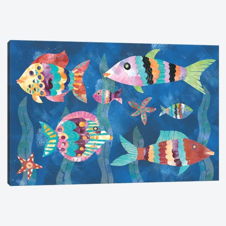 Boho Reef Fish III Canvas Print #WAC5614} by Wild Apple Portfolio Canvas Wall Art