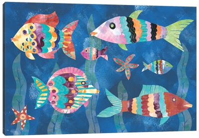 Boho Reef Fish III Canvas Art Print