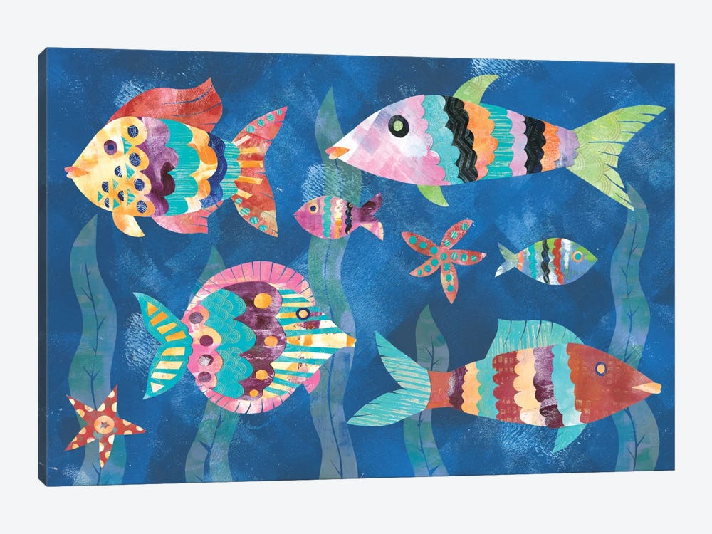 Boho Reef Fish III by Wild Apple Portfolio 1-piece Art Print