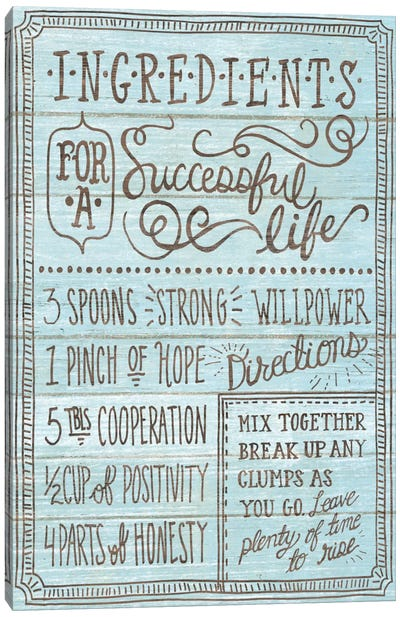 Ingredients For Life I Canvas Art Print