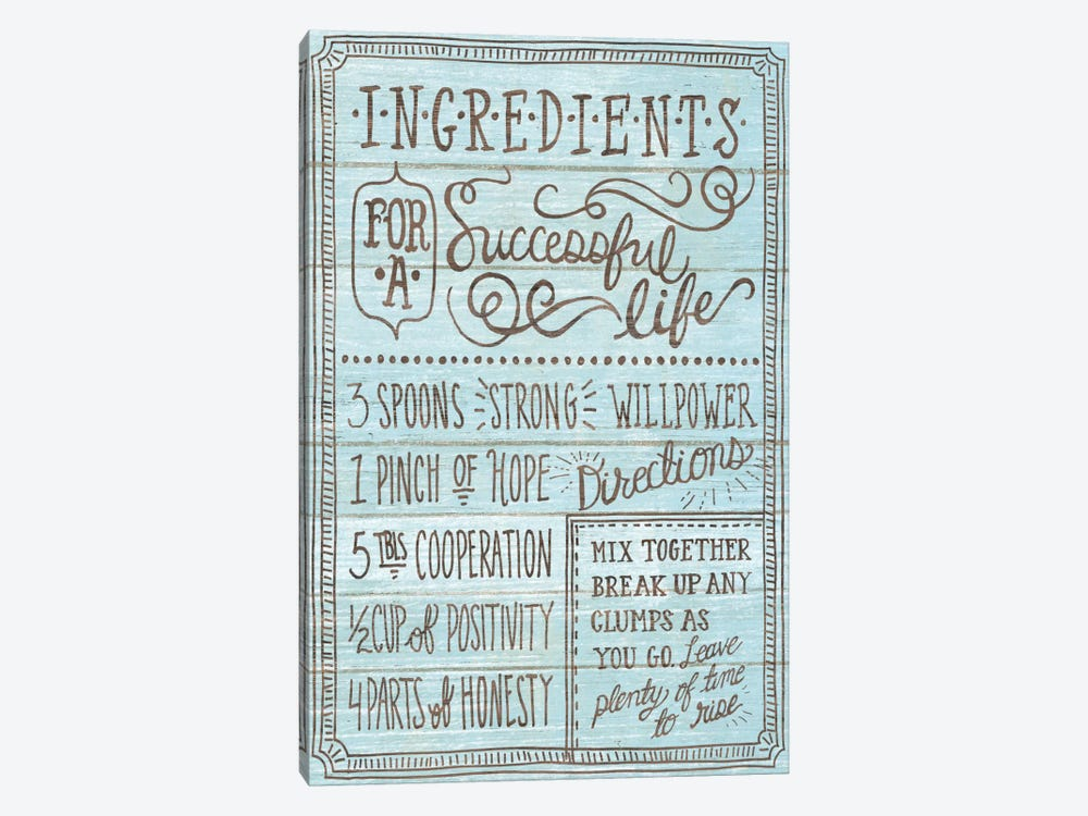 Ingredients For Life I by Mary Urban 1-piece Canvas Art Print