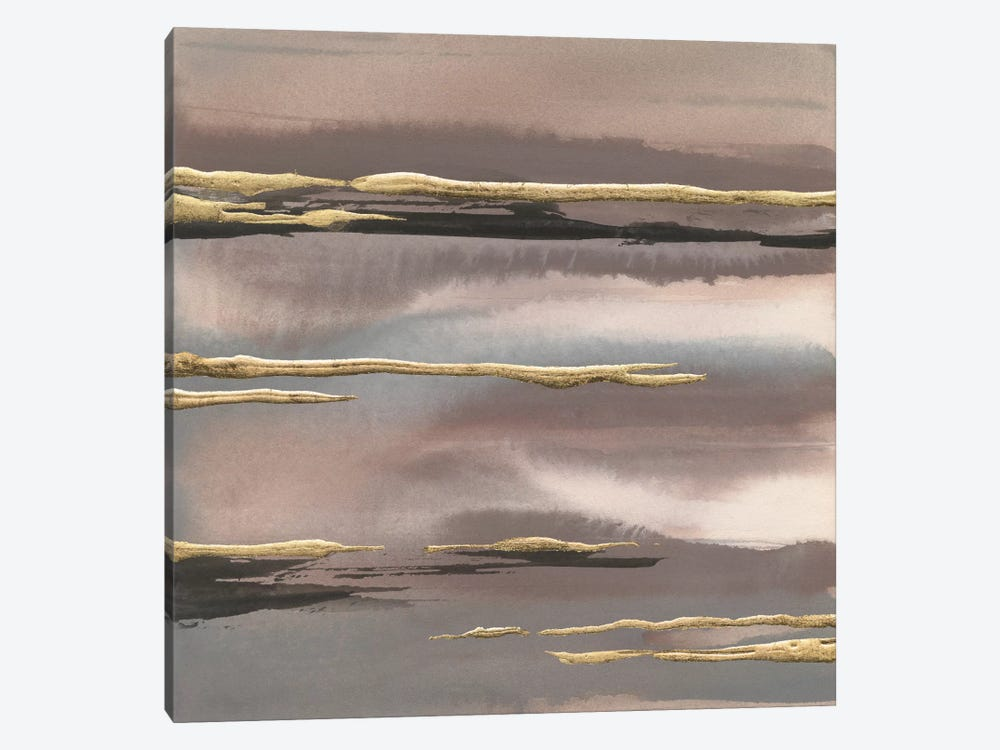Gilded Morning Fog III 1-piece Canvas Wall Art