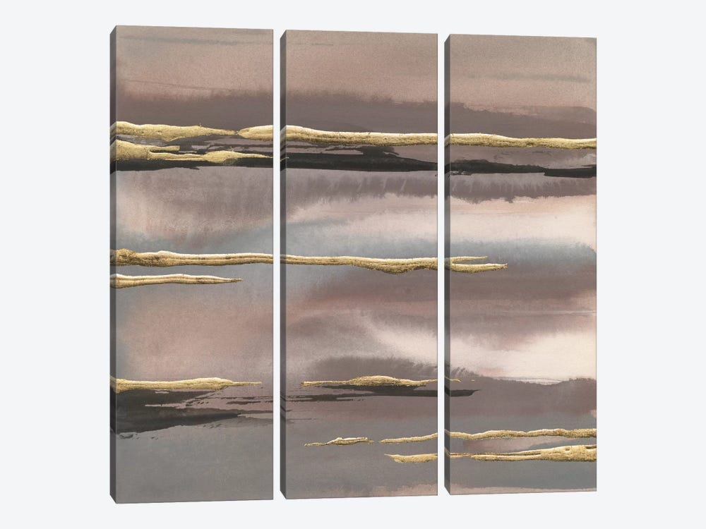Gilded Morning Fog III 3-piece Canvas Art