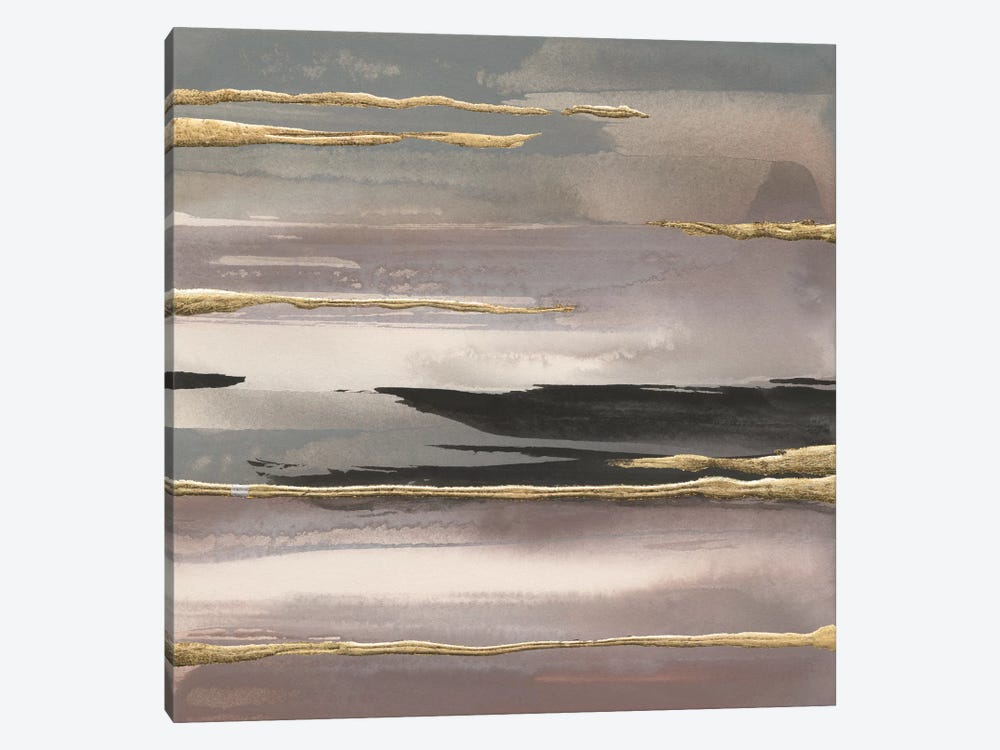 Gilded Morning Fog IV by Chris Paschke 1-piece Canvas Artwork