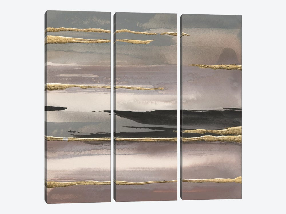 Gilded Morning Fog IV by Chris Paschke 3-piece Canvas Artwork